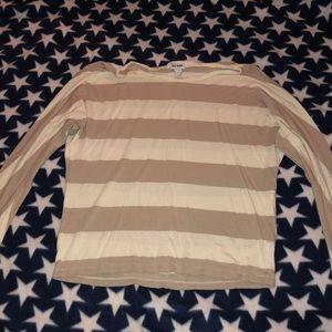 Tan and Cream long sleeve shirt